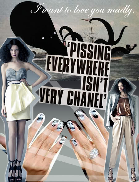 Pissing everywhere isn't very Chanel - Michelle Christina Larsen - Hey Mishka - NYC Style Blog