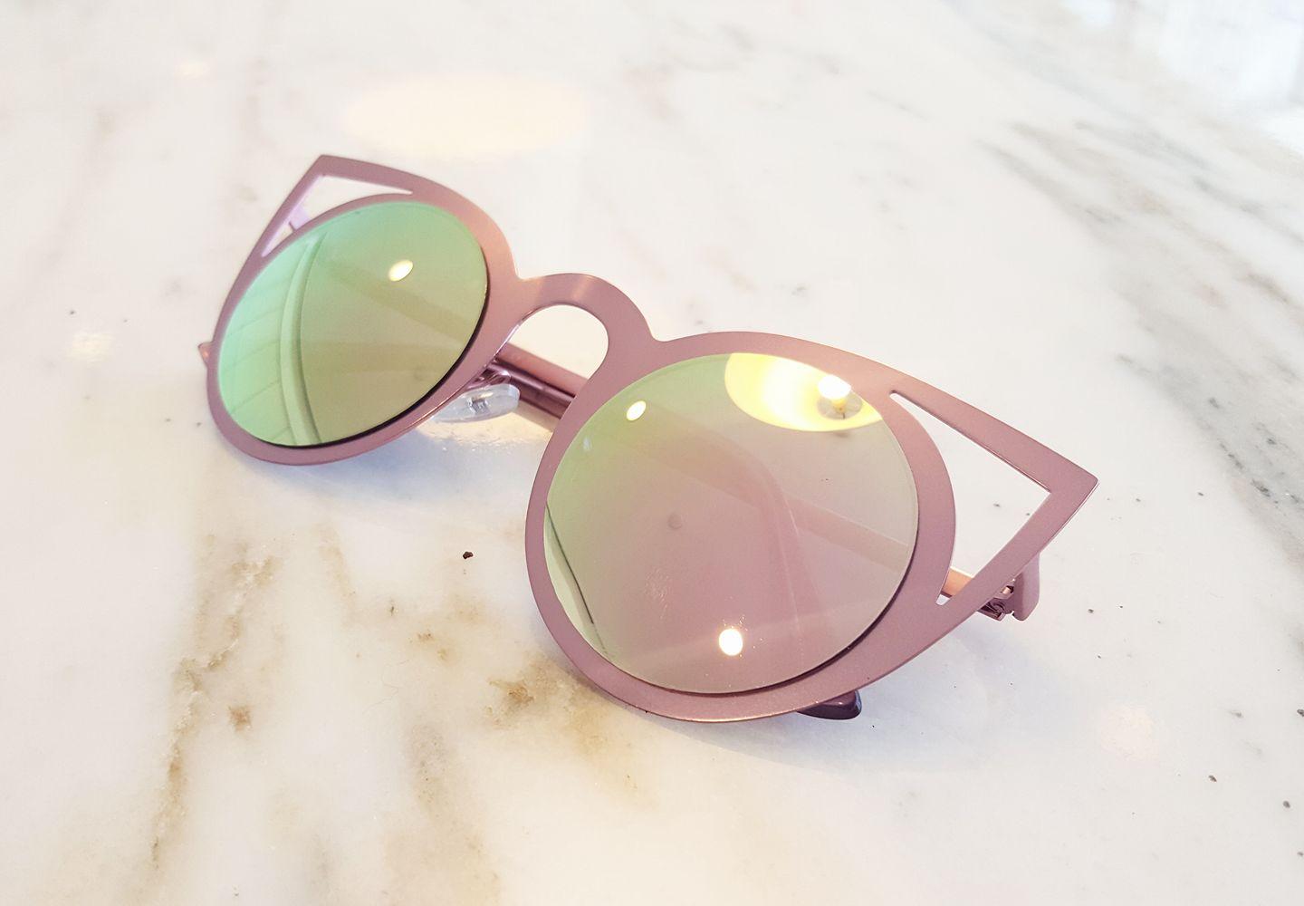 rose all day - cat eye sunnies - brooklyn postcards - spring in new york city