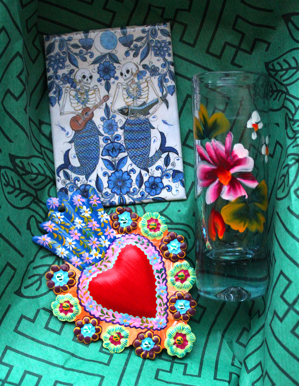 Mexican Folk Art - Valentine's Day - Hey Mishka - Michelle Christina Larsen 1