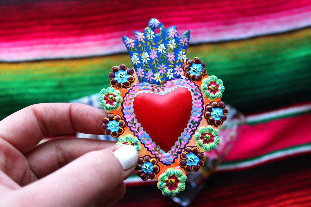 Mexican Folk Art - Valentine's Day - Hey Mishka - Michelle Christina Larsen