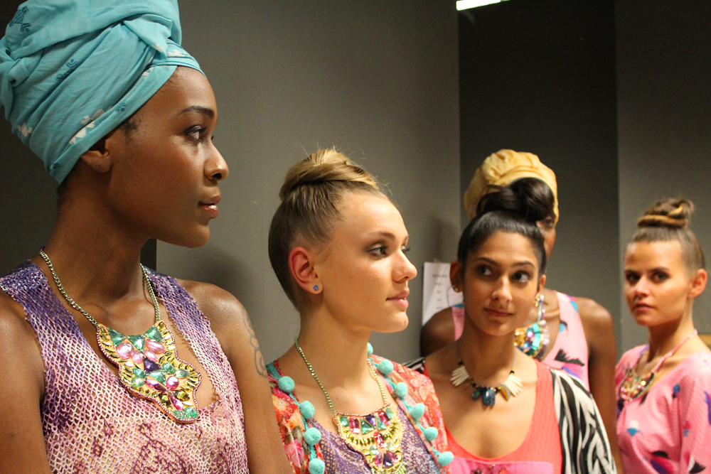 Bombay Mermaid fashion brand - backstage - sisters on the runway NYC - Hey Mishka 5