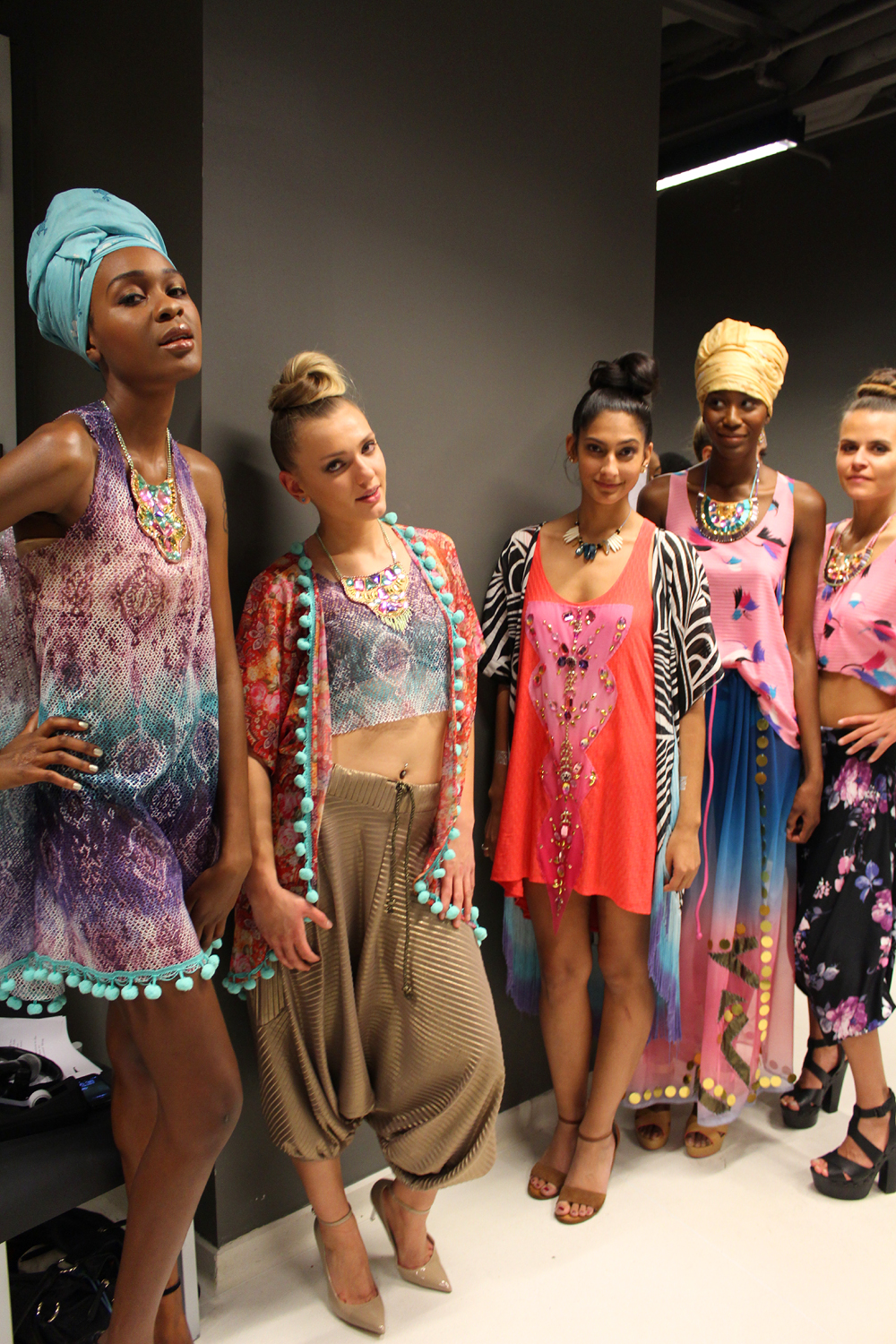 Bombay Mermaid fashion brand - backstage - sisters on the runway NYC - Hey Mishka 7
