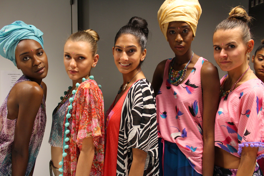 Bombay Mermaid fashion brand - backstage - sisters on the runway NYC - Hey Mishka 10