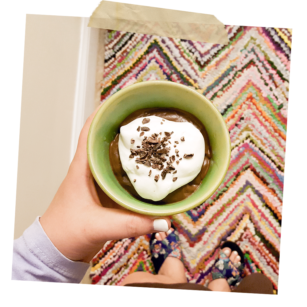 avocado cocoa pudding - hey mishka - recipes