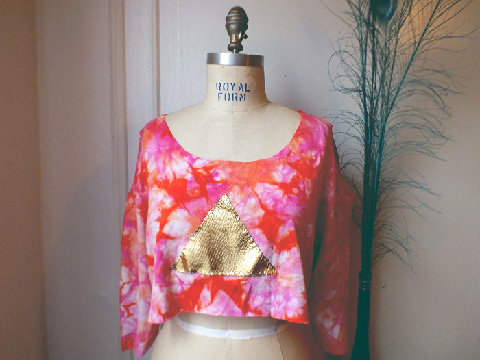 DIY: Applique Cut-Out Crop Top - Hey Mishka Creative Living Blog - Michelle Christina Larsen