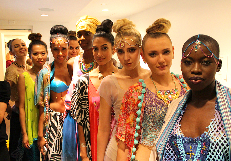 Bombay Mermaid fashion brand - backstage - sisters on the runway NYC - Hey Mishka 2
