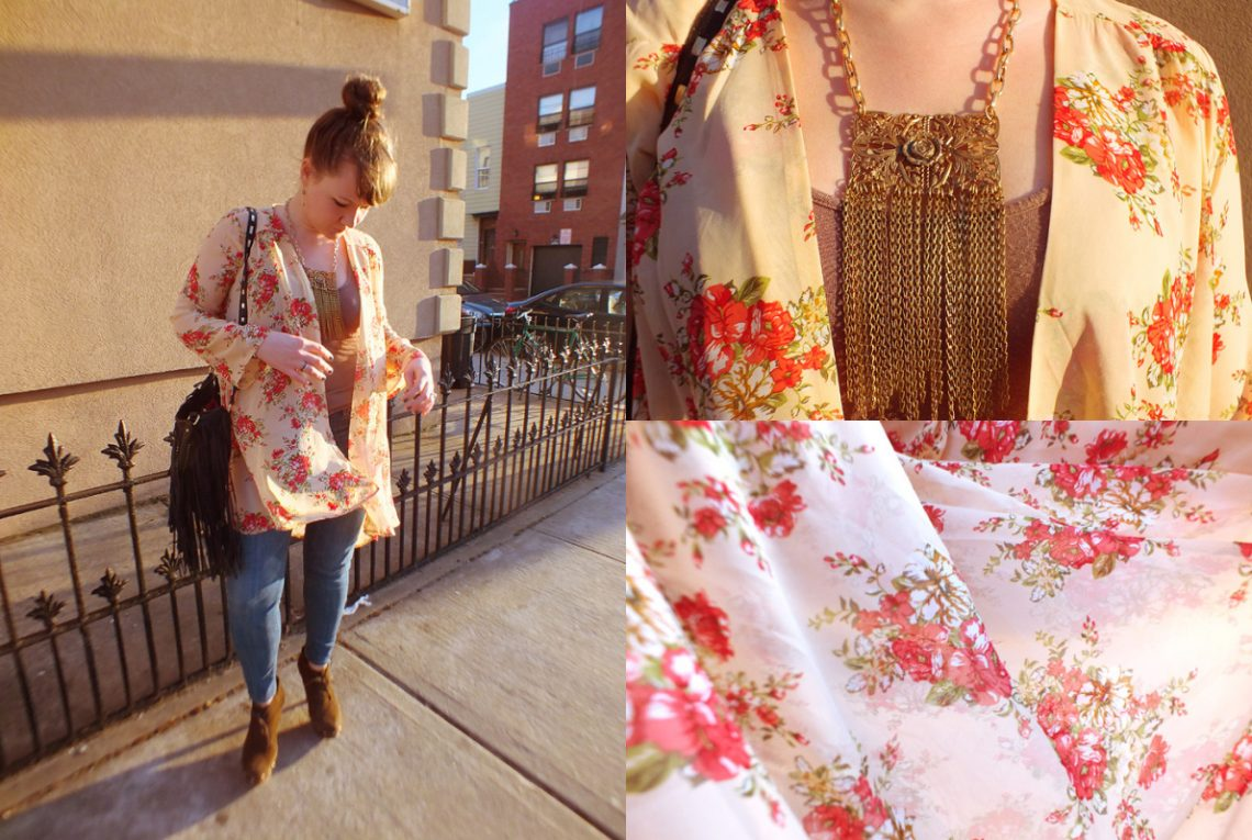 Spring Florals & A Statement Chain Fringe Necklace - Hey Mishka blog - Spring Style Trends 006