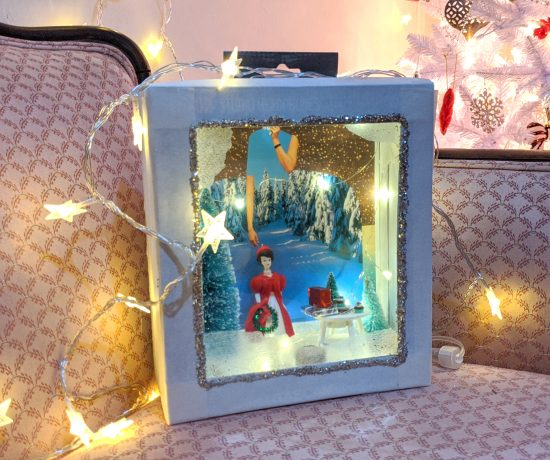 DIY Vintage Holiday Diorama - Christmas Craft Projects - Hey Mishka Blog (6)